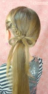 cute girl hairstyles how to french braid exclusive cute girls hairstyle bow braid hairzstyle com