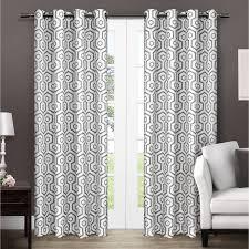exclusive home trike geometric thermal grommet top window curtain