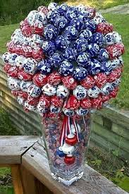Fourth Of July Table Decoration Ideas Lollipop Centerpiece With Red White And Blue Great For A