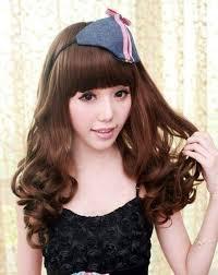 model rambut keriting gantung model rambut keriting gantung dengan poni datar model rambut id