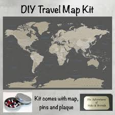 Maps United States Earth Toned Us Travel Map With Pins United States Map Travel