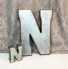 metal letters wood and galvanized metal letter wall decor xxl business letters