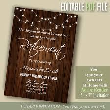 15 retirement invitation designs editable psd ai format