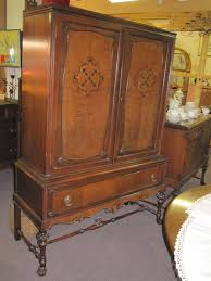 antique hutch on stand by the lammert furniture company st louis