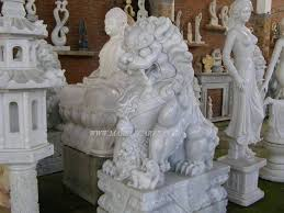 marble foo dogs marble foo dogs temple lions sculpture statue garden carving vn3040094