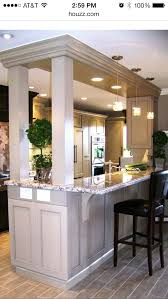 Small Kitchen With Breakfast Bar - curved wall decorating ideas kitchen traditional with breakfast
