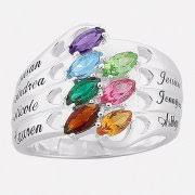 mothers ring with names rings with birthstones
