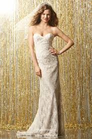 strapless allover beaded lace spring bridal gown groupdress com
