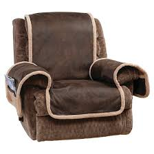 vintage leather recliner furniture cover brown sure fit target