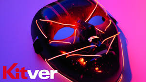 how to make a scary light up el wire mask kitver tutorial youtube