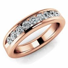 gold wedding band mens 0 72ct channel set diamond band wedding mens ring