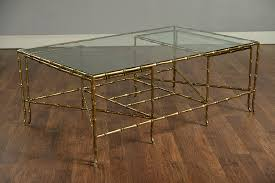 faux bamboo brass coffee table mecox gardens