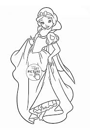 disney princess snow white coloring page for kids disney princess