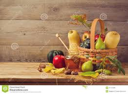 thanksgiving still life autumn nature concept fall fruits and pumpkin on wooden table