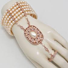 rose gold hand bracelet images 1920 39 s flapper great gatsby inspired rose gold peach big pearl jpg