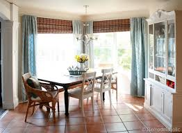 Bamboo Curtains For Windows Bamboo Shades In Dining Room Before And After