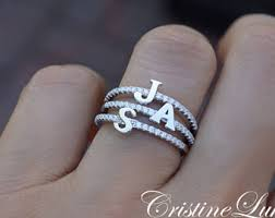 Ring With Initials Initials Ring Etsy