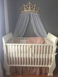 diy crown canopy for a crib or bed fit for a princess nura