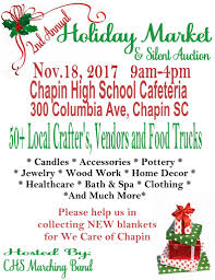 2nd annual chapin bands holiday market abc columbia