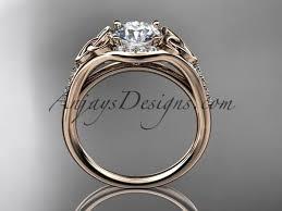 Irish Wedding Rings by 14kt Rose Gold Diamond Celtic Trinity Knot Wedding Ring Engagement Ri
