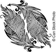 vectors of bird s feather color sketch bird s feather graphic