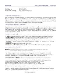 Example Artist Resume Digital Painter Sample Resume Resume Templates