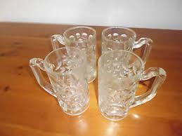 bicchieri della nutella lotto 4 bicchieri vetro manico boccali glass nutella anni 70 80 ebay