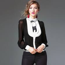 black high collar blouse online black high collar blouse for sale