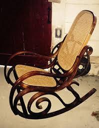 bentwood rocking chair mid century modern wood circles spiral