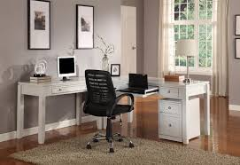 White L Shaped Office Desk by L Shaped Desk Design Ideas For Home Office
