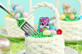Easter Cake Edible Decorations by Easter Basket Cupcakes Sugarhero