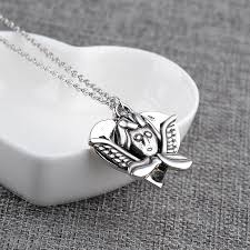 s day pendants guardian angel necklaces pendants alloy heart charms