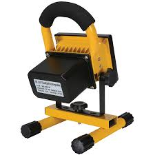 portable 10w cob type super bright led work light rechargeable