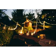 Clear Patio String Lights Brightech Ambience Outdoor String Lights With 25 G40 Clear Globe