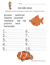alphabetical order worksheets have fun teaching