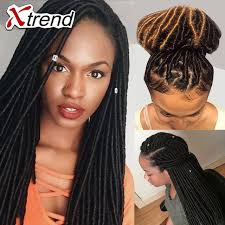 crochet black weave hair 14inch 100g pack 24root whosele faux locs crochet black dreadlock