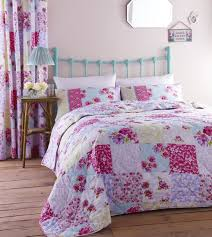 Girls Patchwork Bedding girls single bedding age 3 to 13 duvet cover fun bright designs