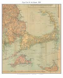 Map Of Massachusetts by Old Map Of Cape Cod 1903 Scarborough Reprint