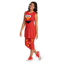 cookie monster and elmo halloween costumes kids sesame street elmo classic girls tween costume 23 99 the