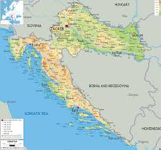 Physical Features Of Europe Map by Physical Map Of Croatia Ezilon Maps