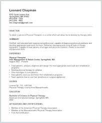 physical therapist resume template sle physiotherapy resume publicassets us