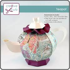 make this cute 3d teapot out of paper the digital pattern