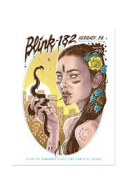 Hershey Pennsylvania Map Blink 182 8 27 2016 Hershey Pa Event Poster Blink 182 Merch