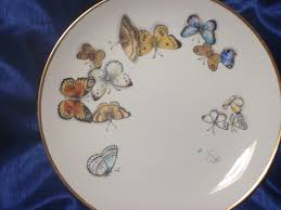 butterfly platter my butterfly plate my porcelain painting