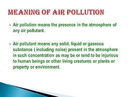 seminor topic is air pollution ppt