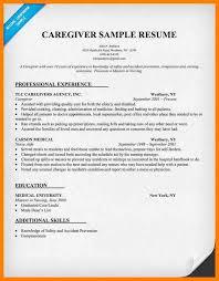 Sample Resume Home Health Aide by Elder Caregiver Resume Sample Corpedo Com