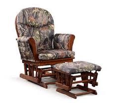 Rocking Chair With Cushions Artiva Usa Wood Rocking Chair With Camo Cushion Glider And Ottoman