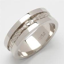 silver mens wedding bands sterling silver men s claddagh wedding ring heavy weight 6mm