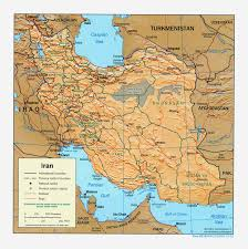 Southwest Asia Map by