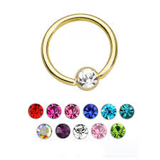 gold piercing rings images Gold pvd gem bcr ball closure ring septum piercing ring shop jpg